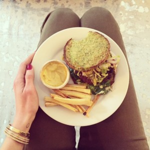 Free Range Turkey Burger on Grain Free Cauliflower Bun